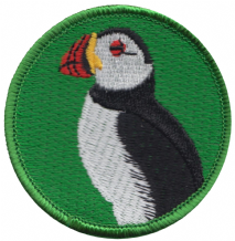 Puffin Sea Bird Embroidered Patch Badge (a084)